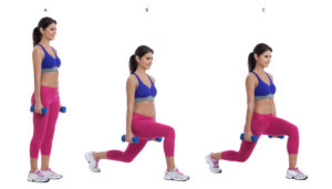 dumbbell lunge - weight loss tips for women