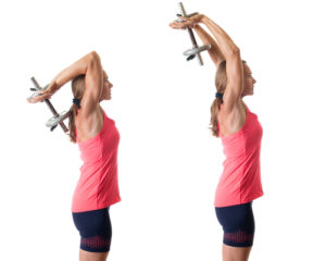 Overhead triceps extension workout routines for women over 40